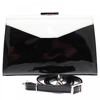 Peter Kaiser Black White Clutch Handbag With Strap