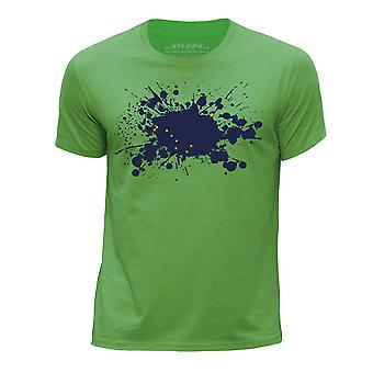 STUFF4 Pojan Pyöreä kaula T-paita / / Alaska USA-osavaltion lippu Splat/vihreä