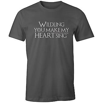 Boys Crew Neck Tee Short Sleeve Men's T Shirt- Wildling You Make My Heart Sing