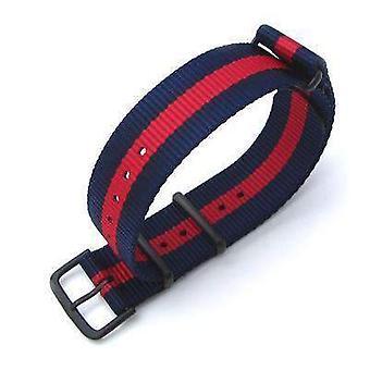 Strapcode n.a.t.o حزام ووتش miltat 20mm g10 العسكرية حزام حزام النايلون الباليستية الذراع، pvd - خطوط حمراء وزرقاء