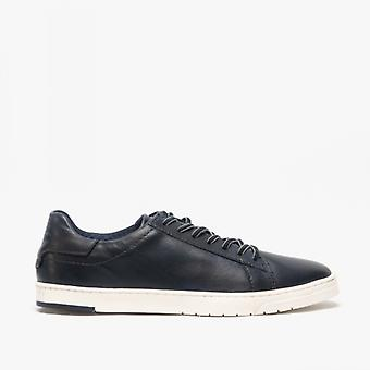 Bugatti 321-91801 Mens Leather Casual Trainers Navy