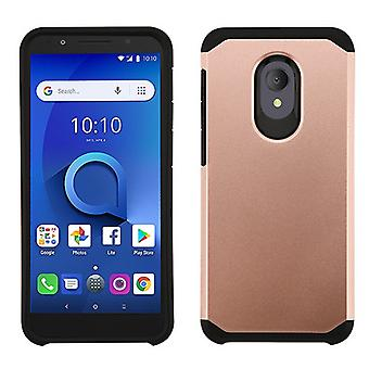 ASMYNA Astronoot Phone Case pour Alcatel 5059R/1X Evolve/Avalon V - Rose Gold/Black