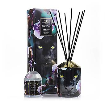 Ashleigh en Burwood Wild Things Supersized Reed Diffuser Boxed Gift Set Born WIth Catitude