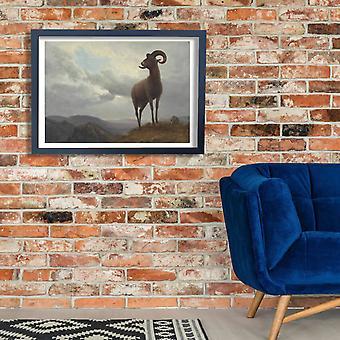 Albert Bierstadt - Long Horned Sheep Poster Print Giclee