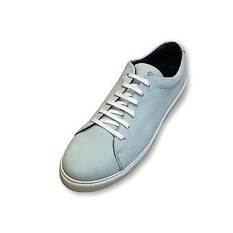 Andrea Zori leather trainers in powder blue