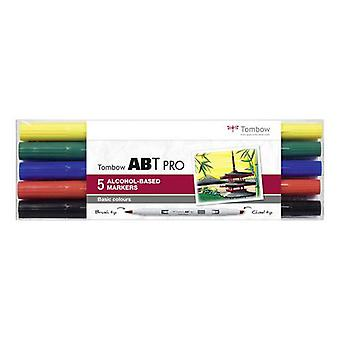 Tombow ABT PRO Alcohol - Cepillo Dual 5 uds. set Basic 19-ABTP-5P-1