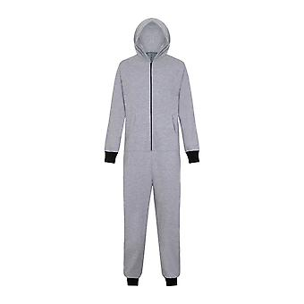 Mens All-In-One Hooded Golf Fishing Jumpsuit Pyjamas Loungewear