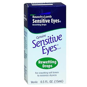 Bausch & lomb genuine sensitive eyes, rewetting drops, 0.5 oz
