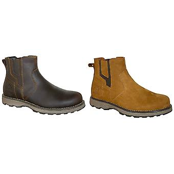 Woodland Mens Leather Gusset Boots