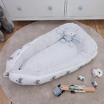 Babynest Liv, bianco, 100x60 cm