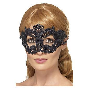 Broderet kniplinger filigran Floral Eyemask