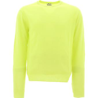 Acne Studios 29x176sharpyellow Männer's gelbe Wolle Pullover