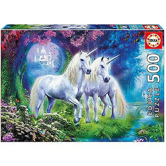Educa Borras Unicorns in the Forest 500 Piece Jigsaw Puzzle