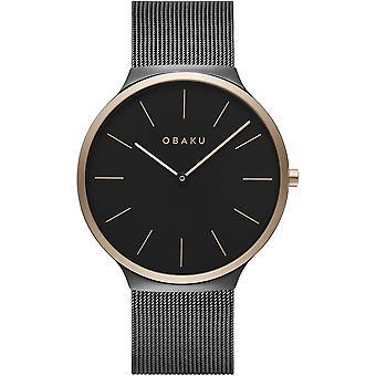 Obaku Ark Night Black Tone Wristwatch V240GXMBMB