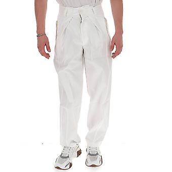 Jacquemus 205pa0520522100 Men's White Cotton Pants