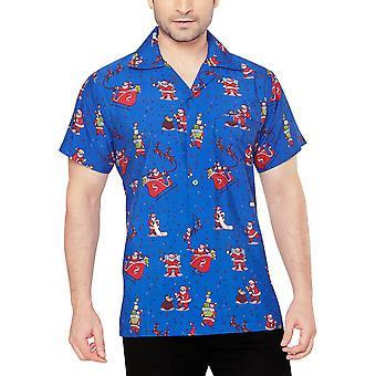 Club cubana men's regular fit classic short sleeve casual shirt ccx33