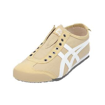 Asics MEXICO 66 SLIP-ON Women's Sneaker Beige Gym Shoes Sport Running Shoes