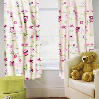 Bereit Steady Bed Kinder 's gedruckte Vorhänge Eulen Design mit Tiebacks. Größe: 66