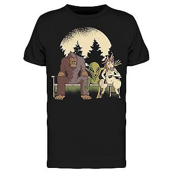 Monster Alien Unicorn Landscape Men's T-shirt