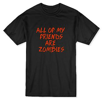 All Of My Friends Are Zombies Design Men's T-shirt