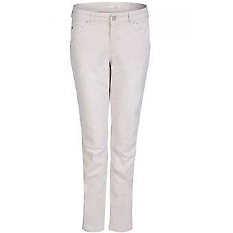 Oui Beige Casual Fit Jeans