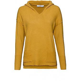 Bianca Mustard Hooded Knit Jumper