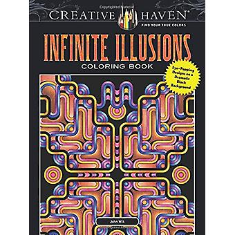 Creative Haven Infinite Illusions Coloring Book - Eye-Popping Designs