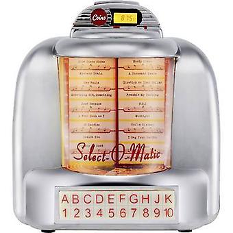 Silva Schneider Jukebox 55 Desk radio FM AUX, Bluetooth, USB, SD Battery charger Silver