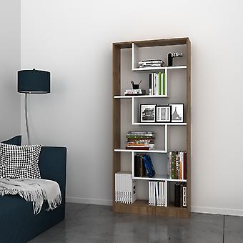 Ryga Kolor Biała Biblioteka, Melaminic Chip Nut, PVC 80x22,2x180.8 cm