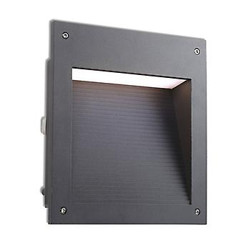 20w Micenas Led Wall Light, Aluminum And Glass, Urban Gray