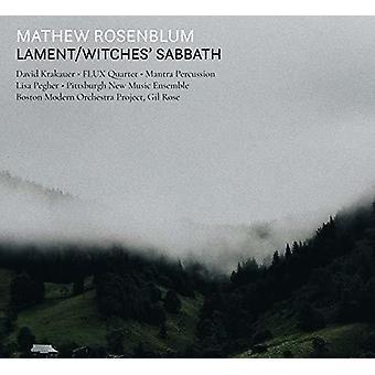 Rosenblum / Boston Modern Orchestra Project - Lament / Witches Sabbath [CD] USA import