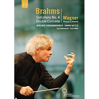 Brahms/Wagner - Sym 4/Double Concerto/Prelude to Parsifal [DVD] USA import