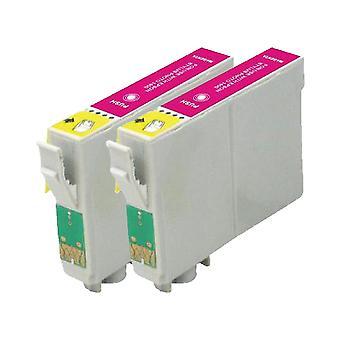 RudyTwos 2 x ersättare för Epson Seahorse bläck enhet LightMagenta kompatibel med Stylus Photo R200, R220, R300, R300M, R320, R325, R330, R340, R350, RX300, RX320, RX500, RX600, RX620, RX640