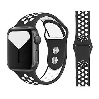 New Breathable Silicone Sports Band For Apple Watch 5 4 3 2 1 42mm 38mm Also For Iwatch 5 4 3 40mm 44mm