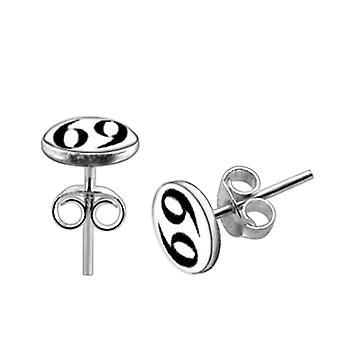 925 Sterling Sølv 69 Logo Sølv Ørering