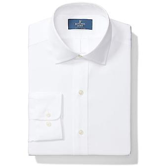 BUTTONED DOWN Men's Classic Fit Spread Collar Solid Non-Iron Dress Shirt (No ...