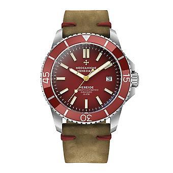 Meccaniche Veneziane 1302006 Nereide Red Bezel Automatic Wristwatch