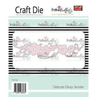 Polkadoodles Delicate Daisy Border Die