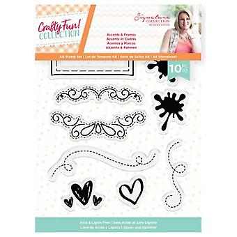 Crafter's Companion Crafty Fun Accents & Frames Clear Stamps