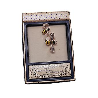 Buzzy Bees Pretty Brooch Rose Gold by Equilibrium