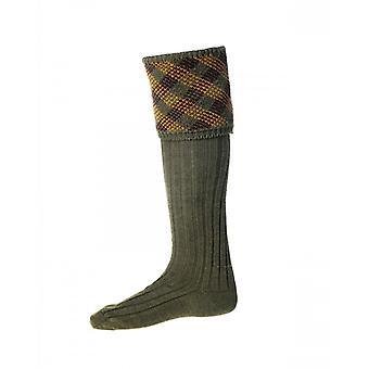 House of Cheviot Country Socks Granton ~ Dark Olive