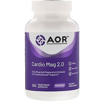 Advanced Orthomolecular Research AOR, Cardio Mag 2.0, 120 Capsules végétariennes