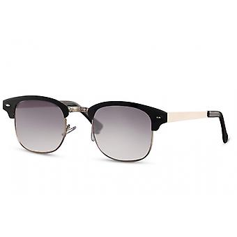 Sunglasses Unisex panto halbrandlos cat.3 black/grey