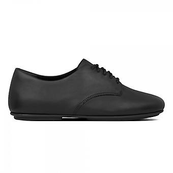 FitFlop Adeola Ladies Leather Derby Shoes Black