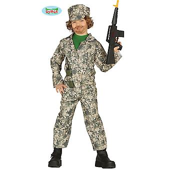 Crianças de fantasia de soldado traje traje do exército traje das crianças