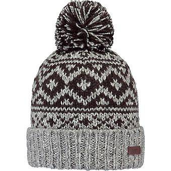 Barts Cartonn Bobble Hat in Heather Grey
