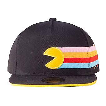 Pac-man Baseball Cap 40th Anniversary Logo new Official Black Snapback