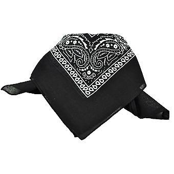タイズ プラネット ブラック&ホワイト ペイズリー パターン バンダナ ネッカーチーフ