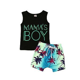 Vauvan vapaa-ajan vaatteet, T-paita Toppit + Shortsit Housut Asu