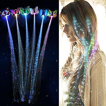 1pc/2pcs/5pcs Led Flashing, Hair Braid - Glowing Luminescent Hairpin Hair